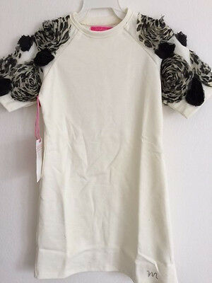 NWT MATOOKA Couture Ivory Dress with 3 Gold Bows girls sz 2 4 6 8 10 12y D651 A6