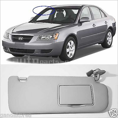 Genuine 852023K400QS Sun Visor RIGHT RH Gray For 2006-2010 HYUNDAI Sonata