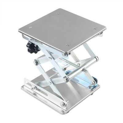 "NEW 6"" Stainless Steel Lab Jack Lab-Lift Lifting Platforms Stand Rack Scissor"