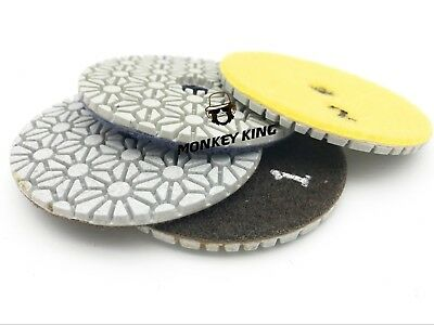 3 Inch 3 STEP Set Diamond Dry Polishing Pads for Quartz Granite Stone Marble