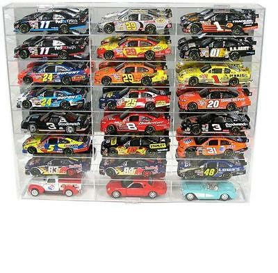 24 Car Diecast Display Case 1/24 Scale Diecast NASCAR Model Cars Free Shipping