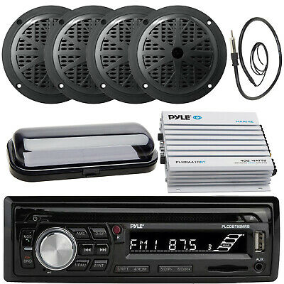"Kenwood New CD Radio AUX USB Input 4 x 5.25"" Speakers, 800W Amp, Antenna, Cover"