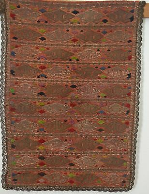 Stunning Antique Ottoman Textile With Heavy Metallic Embroidery & Trim Rr816