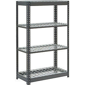 """Heavy Duty Shelving 48""""W x 12""""D x 60""""H With 4 Shelves, Wire Deck"""