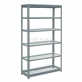 """Heavy Duty Shelving 48""""W x 12""""D x 96""""H With 6 Shelves, Wire Deck"""