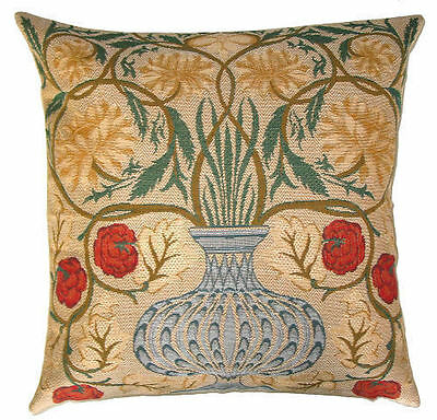 """New 18"""" Wm Morris Arts & Crafts Rose Bowl Quality Tapestry Cushion Cover 1127"""