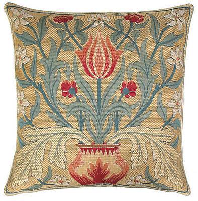 """New 18"""" Wm Morris Arts & Crafts Tulip Quality Tapestry Cushion Cover 910"""