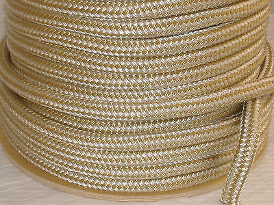 """Nylon 3/4""""x300' Gold/white double braid rope anchor mooring dock lines"""