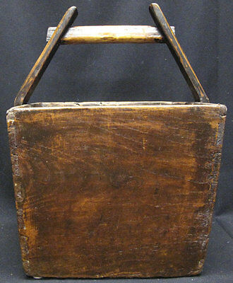 Antique Chinese Wooden Carrying Bucket with Handle