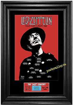 Led Zeppelin 1980 LAST Concert Poster & Ticket set Ready to frame! LAST berlin