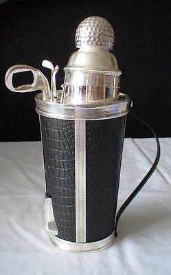 Large Silver Plate Golf Bag Cocktail Shaker