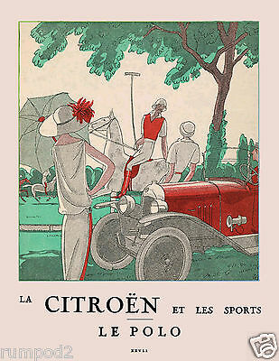 Vintage Art Deco-Vogue-Poster/Art Print - Le Polo - French/17x22  Reproduction