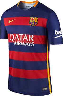 Mens Official Nike Barcelona Football Shirt Home Kit 2015/2016 BNWT Messi Suarez