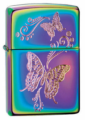 Zippo Windproof Spectrum Lighter With Butterflies, 28442, New In Box