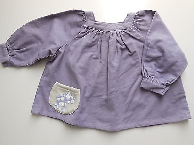 'la Queue Du Chat' French Baby Girl Organic Cotton Corduroy Top Size 00 Fits 6M