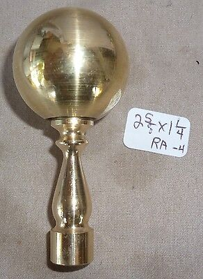 """Lamp Finial Polished Solid Brass Elevated Ball 2 5/8"""" h x 1 1/4""""d  (per ea)"""