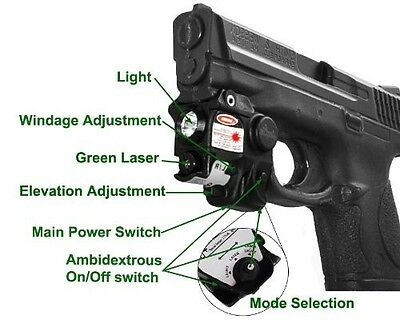 Green Laser Light Combo for Walther P22 PPQ PPS PPX PK380 P99 Taurus Millenium