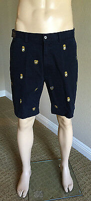 NWT Polo Ralph Lauren Classic Fit Embroidered Short size 35 $125 Aviator Blue