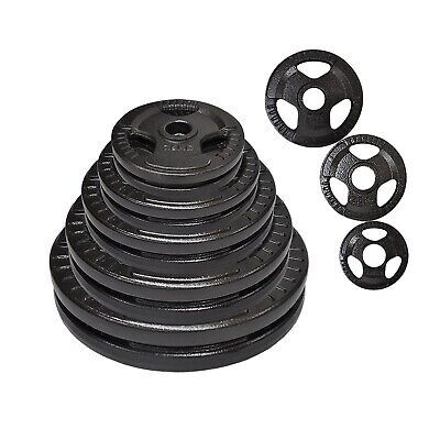 Total 60kg Olympic Cast Iron Weight Plate Set - Energetics Weight Plates Set
