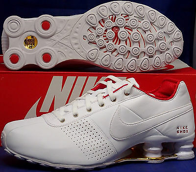 detailed look c7b9d cf489 womens nike shox current white red