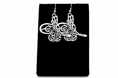 Ottoman Signature Antique Silver Plated Earrings with French Style Hooks-BSK179