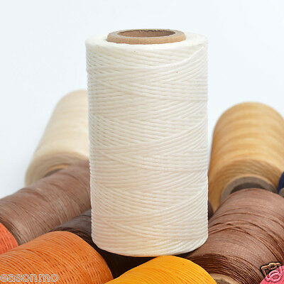 White 260m/284yards 1mm Thick Flat Leather Sewing Waxed Thread For leathercraft