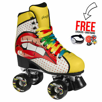 Powerslide Quad Roller Skates, Pop Art Blondie Skates SFR Derby Womens