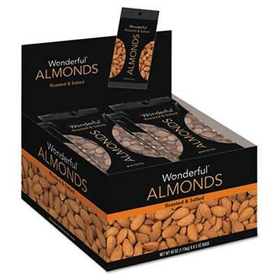 Pam 042322F2OA Wonderful Almonds, Dry Roasted & Salted, 5 oz, 8-Box