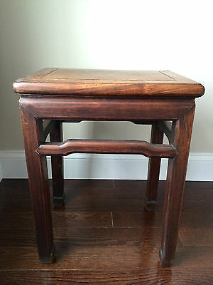 Fine Chinese Hardwood Low Stool Fangdeng Changfangdeng Table