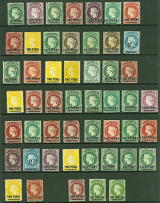 Early St Helena. Mint selection on stock card, values to 1/-. Condition mixed...