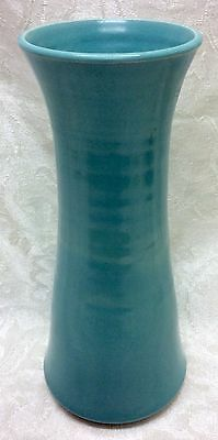 Phil Morgan Pottery, Seagrove, N. C. Pottery Cylinder Vase Turquoise