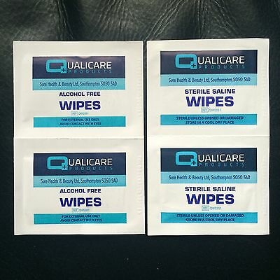 Alcohol Free & Saline Wipes - First Aid Cuts & Wound Dressings **Fast FREE P&P**