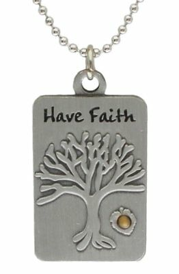 MUSTARD SEED TREE of Life Pendant Necklace - Christian Necklaces