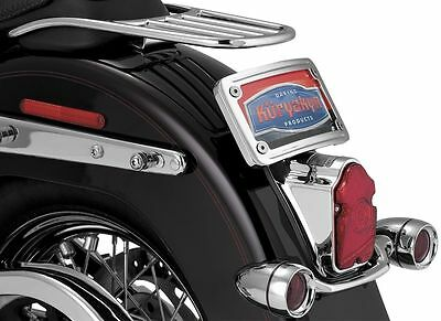 Curved Laydown License Plate Mount  Kuryakyn  3181