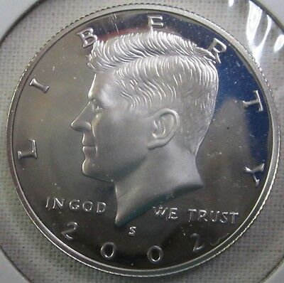 2002 S Kennedy Half Dollar - Gem Proof Deep Cameo - 90% Silver