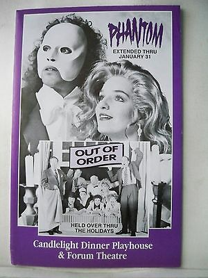 PHANTOM / OUT OF ORDER Herald CANDLELIGHT DINNER PLAYHOUSE Chicago, IL 1992