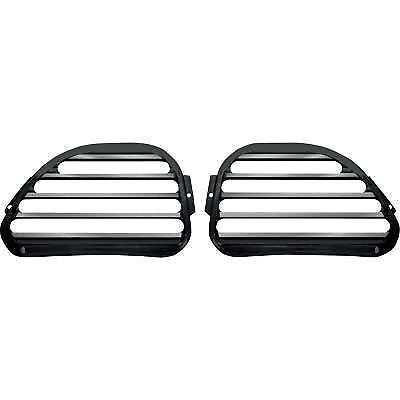 Front Finned Speaker Grilles Covingtons Black C0021-B