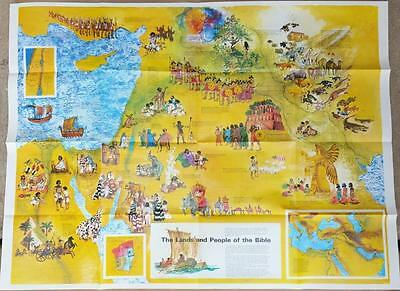Biblical Map Of Events Recorded In The Bible -The Lands And Peoples Of The Bible