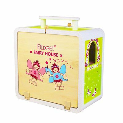 NEW Tiger Tribe Boxset Fairy House - Kids Wooden Pretend Play Portable Doll Set