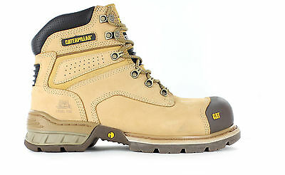 CAT Caterpillar Brakeman Steel Toe Work Safety Boots without Zip Tradies Shoes