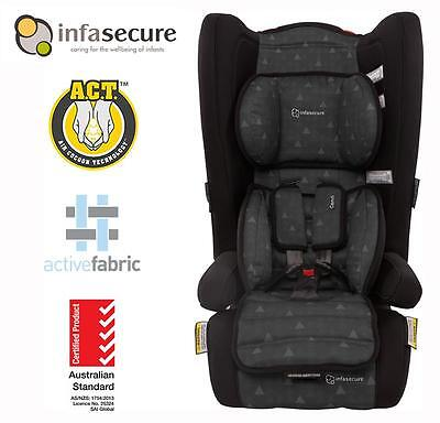 Infasecure Comfi Treo Covertible Booster Infant Kid Baby Car Seat 6mth - 4 years