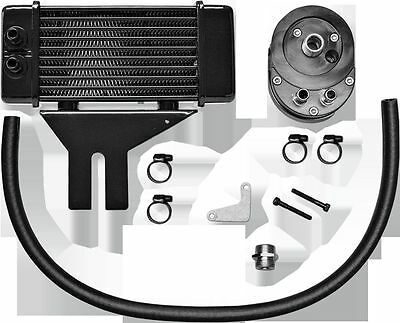 Horizontal 10 Row Oil Cooler Low Mount  Black Jagg Oil Coolers 750-2500