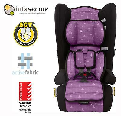 Infasecure Comfi Treo Covertible Booster Kid Infant Baby Car Seat 6mth - 4 years