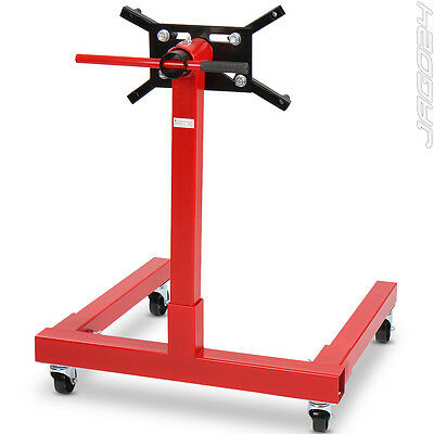 Heavy Duty Swivel Transmission Gearbox Engine Mount Support Stand 550 kg Red