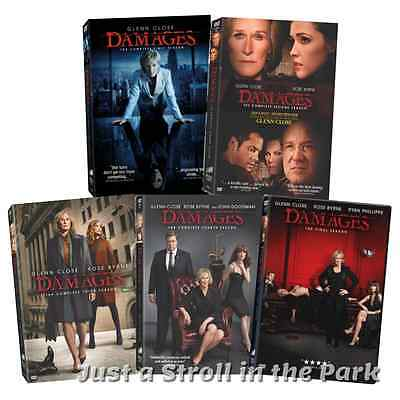 Damages: Glenn Close Complete TV Series Seasons 1 2 3 4 5 Box / DVD Set(s) NEW!