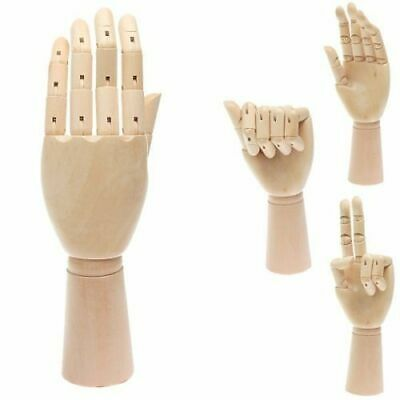 """3 x Small Wooden Hand Manikin 18cm (7"""") - Wood Drawing Painting Art"""