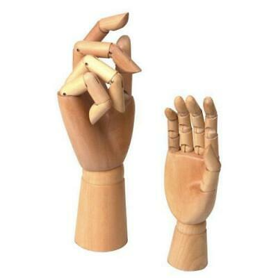 2 Assorted Size Large & Small Wooden Hand Artist Drawing Manikin Joint Mannequin