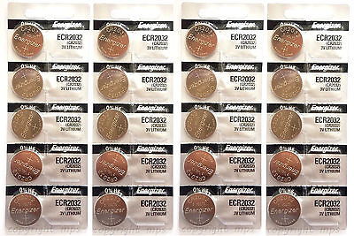 *FRESHLY NEW* 20x Genuine Energizer CR2032 ECR2032 3V Coin Button Batteries