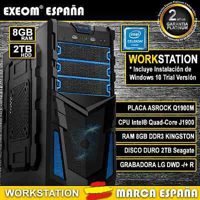 ORDENADOR PC GAMING INTEL QUAD CORE 9,6GHz 8GB RAM 2TB HD HDMI - MARCA ESPAÑA
