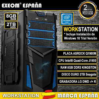 PC GAMING SOBREMESA QUAD CORE 9,6GHz 8GB RAM 2TB HD HDMI - MARCA ESPAÑA